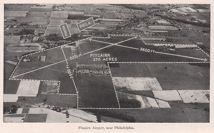 Pitcairn Field, Willow Grove, PA, Ca. 1926 (Source: AYB)